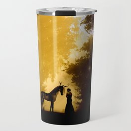 Magical Forest with a Lady and a Unicorn Travel Mug