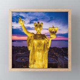 Sunset Wisconsin Framed Mini Art Print