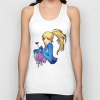 metroid Tank Tops featuring Samus + Metroid by Helixel