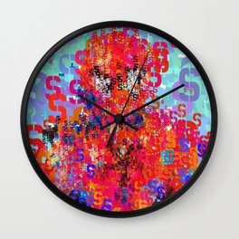 Superhero Type Art Comics Spider Wall Clock