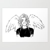 kendrawcandraw Art Prints featuring Wings by kendrawcandraw