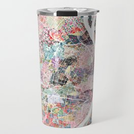 Saint Louis map flowers Travel Mug