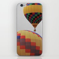 tote bag iPhone & iPod Skins featuring Hot Air Balloon New Mexico 2 Tote Bag by CJ Pletting
