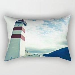 Lighthouse in norway Rectangular Pillow