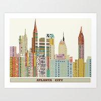atlanta Art Prints featuring Atlanta by bri.buckley