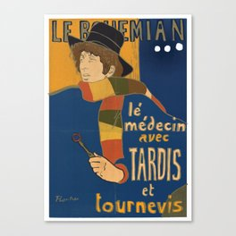Le Bohemian Doctor Who by Lautrec Canvas Print