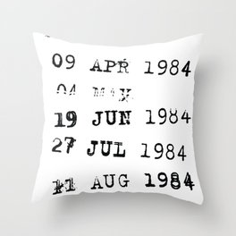 Library Card with Due Dates Get Lit Funny Book Lover graphic Throw Pillow