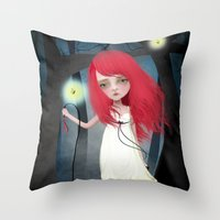 firefly Throw Pillows featuring Firefly by solocosmo