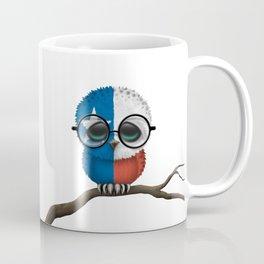 Baby Owl with Glasses and Texas Flag Coffee Mug