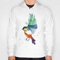 birdy Hoodies featuring Birdy by Annaleigh Louise