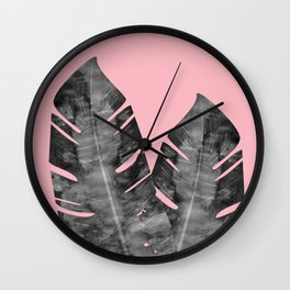 Composition tropical leaves XVI Wall Clock