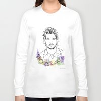 louis tomlinson Long Sleeve T-shirts featuring Louis Tomlinson by Mariam Tronchoni