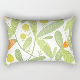 Bright and Green Rectangular Pillow