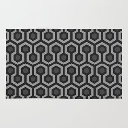 The Overlook Hotel - Carpet Pattern - Grayscale Rug