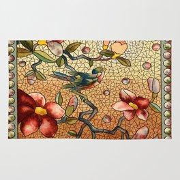 Vintage Stain Glass Rug