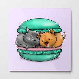 Macaron Cuddles Metal Print