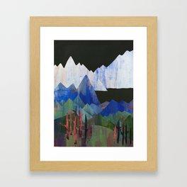 Chroma Mountains Framed Art Print