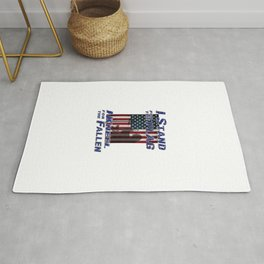 I Stand for the Flag - I Kneel for the Fallen Rug