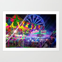 Fun Fun and Funnel Cakes at the carnival Art Print
