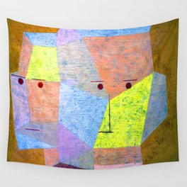 Paul Klee Two Heads Wall Tapestry