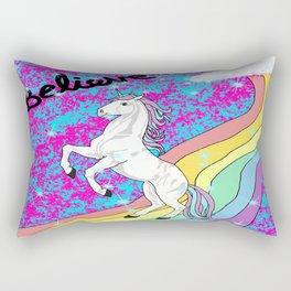 Believe (Unicorn) Rectangular Pillow