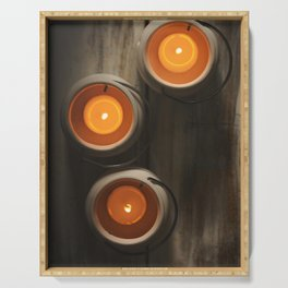 Candles Serving Tray