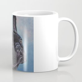french bulldog dog portrait art from an original painting by L.A.Shepard Coffee Mug
