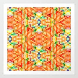 orange heat Art Print
