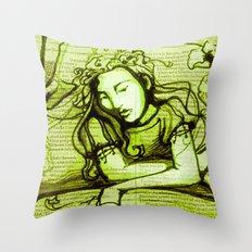 Romantic Ophelia Throw Pillow