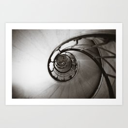 Spiraling up and up Art Print