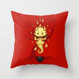 Dragon Tea Throw Pillow