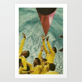 reaching/projecting Art Print