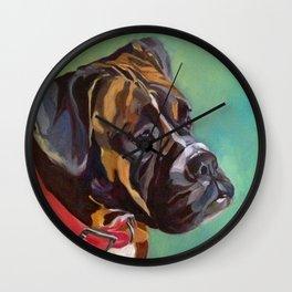 Boxer Dog Keeley Pet Portrait Wall Clock