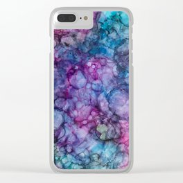 Abstract Purple and Blue Clear iPhone Case