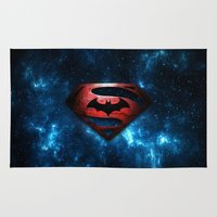 superman Area & Throw Rugs featuring SUPERMAN - SUPERMAN by albert Junior