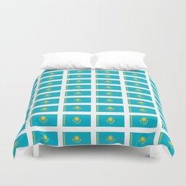 flag of Kazakhstan -Kazakhstan,Kazakh,Қазақстан,Казахстан,Kazakhstani,Astana. Duvet Cover