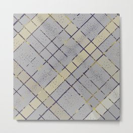 Retro pastel plaid pattern N7 Metal Print