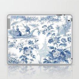 Powder Blue Chinoiserie Toile Laptop & iPad Skin