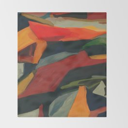 Lessons To Learn Abstract Landscape Throw Blanket