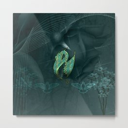 Elegant chinese dragon Metal Print