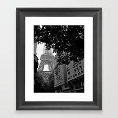 Eiffel Tower in Hiding Framed Art Print