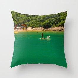 Beach in Buzios, Rio de Janeiro (Brazil) Throw Pillow