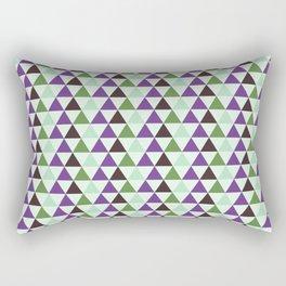 Geometrical purple green abstract triangles pattern Rectangular Pillow