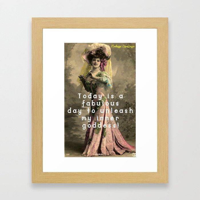 Vintage Goddess Framed Art Print