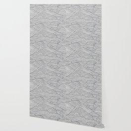 Waves in Charcoal Wallpaper