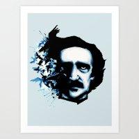 edgar allan poe Art Prints featuring Edgar Allan Poe Crows by Ludwig Van Bacon