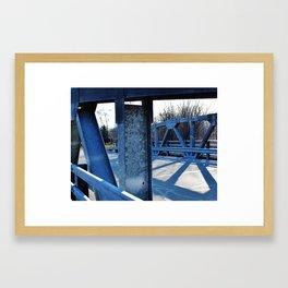 Blue bridge Framed Art Print