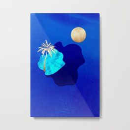 Golden Islands - Royal Blue Minimalist Metal Print