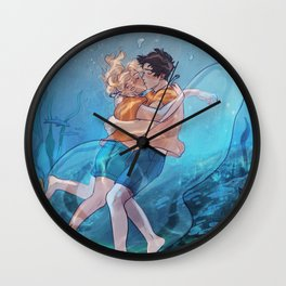 The best underwater kiss Wall Clock