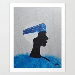 Blue Nell Art Print